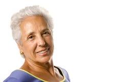 Dame aînée de sourire Photographie stock libre de droits