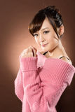 Dame asiatique sexy attirante photo libre de droits