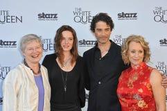 Dame Barbara Hay & Rebecca Ferguson & James Frain & Philippa Gregory Royalty-vrije Stock Foto