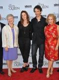 Dame Barbara Hay & Rebecca Ferguson & James Frain & Philippa Gregory Stock Foto's