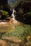 Dame Bath Falls - MT-Buffels Stock Afbeelding