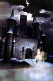 Dame blanche du château Images libres de droits