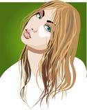 Dame blonde illustration libre de droits
