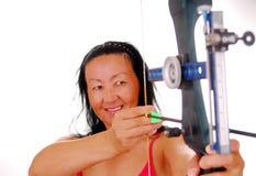 Dame Bogenschütze sieben Lizenzfreies Stockfoto