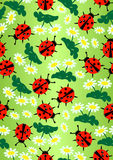 Dame Bug&daisy vector illustratie