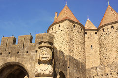 Dame Carcas of Carcassonne, France Royalty Free Stock Photos