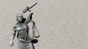 Dame cassée du rendu de la justice 3d Image stock