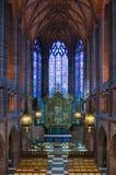 Dame Chapel binnen Liverpool C Stock Fotografie