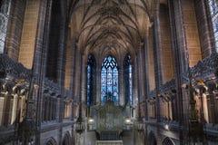 Dame Chapel binnen Liverpool C Stock Afbeeldingen