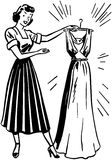 Dame With Clean Dress royalty-vrije illustratie