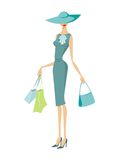 Dame d'achats Image stock