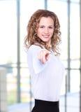 Dame d'affaires avec le regard positif Images libres de droits