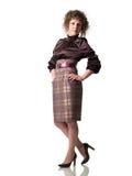 Dame d'affaires sur des talons Image stock