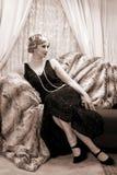 Dame d'années '20 Photographie stock