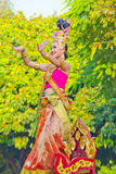 Dame Dance bij het Festival zesendertigste van de Bloem Chiangmai. Royalty-vrije Stock Foto