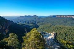 Dame darleys vooruitzicht, blauw bergen nationaal park, Australië 2 royalty-vrije stock foto