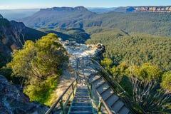 Dame darleys vooruitzicht, blauw bergen nationaal park, Australië 5 royalty-vrije stock foto