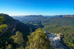 Dame darleys vooruitzicht, blauw bergen nationaal park, Australië 4 royalty-vrije stock fotografie