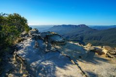 Dame darleys vooruitzicht, blauw bergen nationaal park, Australië 7 royalty-vrije stock afbeelding