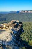 Dame darleys vooruitzicht, blauw bergen nationaal park, Australië 8 stock foto