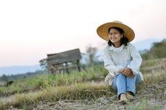 Dame de fermier photographie stock