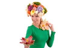 Dame de fleur. Photo libre de droits