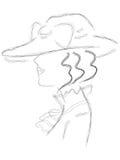 Dame in de hoed Royalty-vrije Stock Afbeelding