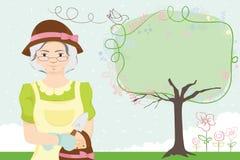 Dame de jardinage Images libres de droits