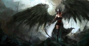 Dame de Reaper illustration de vecteur