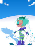 Dame de ski Photos stock