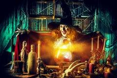 Dame de sorcière Images stock