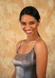 Dame de sourire d'Indien est Photos stock