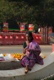 Dame de vendeur de fleur Photo libre de droits
