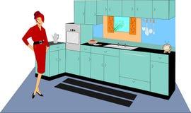 Dame in der Küche Lizenzfreies Stockbild