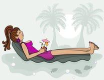 Dame die van een luxelevensstijl geniet vector illustratie