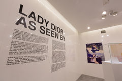 Dame Dior As Seen By Exhibition in Hong Kong Stock Afbeelding