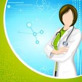 Dame Doctor royalty-vrije illustratie