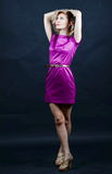 Dame in een aardige kleding Royalty-vrije Stock Foto