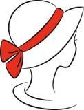 Dame in een hoed stock illustratie