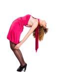 Dame in een roze kleding Royalty-vrije Stock Foto