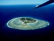 Dame Elliot Island von der Luft lizenzfreies stockbild
