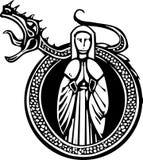 Dame en Gebruldraak royalty-vrije illustratie