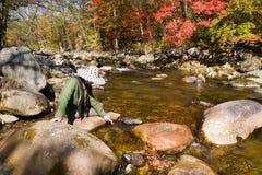 Dame en rivier Stock Afbeeldingen