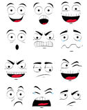 Dame faciale d'Expressions Photo stock