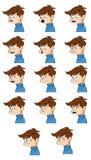 Dame faciale d'Expressions Photos stock