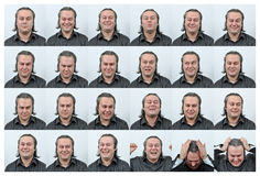 Dame faciale d'Expressions Images stock