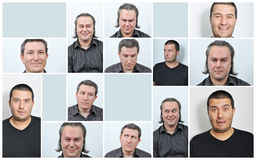 Dame faciale d'Expressions Image stock