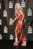 Dame GaGa bij de Perszaal van de Toekenning van de Muziek van MTV van 2010 Video, Het LEVENDE Theater van Nokia L.A., Los Angeles, Stock Afbeeldingen