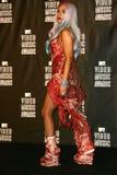 Dame GaGa an der MTV-videomusik 2010 spricht Presse-Raum, Nokia, das Theater L.A. LEBEN, Los Angeles, CA 08-12-10 zu Lizenzfreie Stockfotos