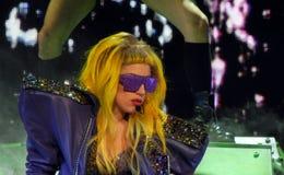 Dame Gaga Live 28 Februari 2011 Stock Afbeeldingen